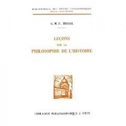 Leçons sur la philosophie de l'histoire