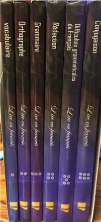 Coffret lire en français 6 tomes (rédaction, orthographe, vocabulaire, conjugaison, difficultés grammaticales du français, grammaire)