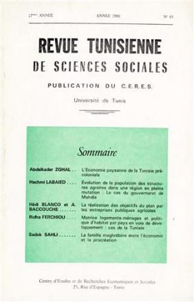 Revue tunisienne de sciences sociales n°61