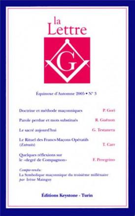 La lettre G équinoxe d'automne 2005 n°