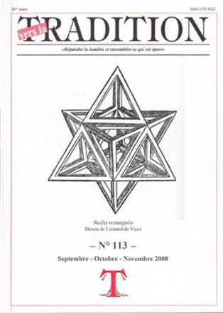 Vers la tradition n° 113 septembre octobre novembre 2008