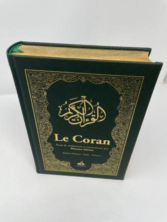 Le CORAN - Essai de traduction du Coran - Bilingue - 2 couleurs - Vert bouteille ( couverture luxe et dorure sur tranche)